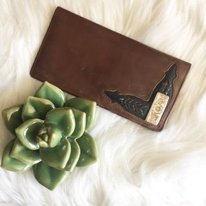 Handbags - Silver and leather wallet